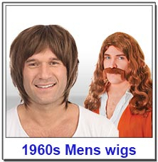 1960s Hippy Mens Wigs