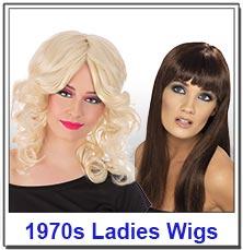 1970s Disco ladies wigs