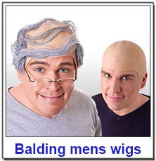 Bald Caps and Balding Mens Wigs