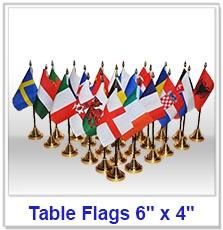 "Cloth Table Flags 6"" x 4"""