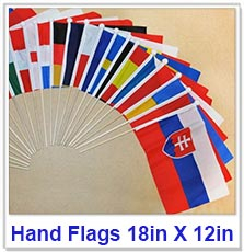 Hand Flags 18in X 12in