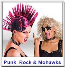 Punk and Rock ladies wigs