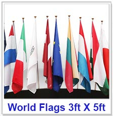 Flags Of The World 3ft X 5ft