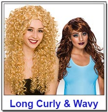 Long Curly and Wavy Ladies Wigs