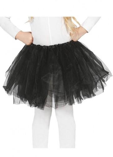 "Kids Plain Black Tutu - Age 3-8 - Waist 16""-28"""