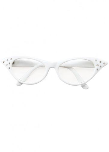 50s White Poodle Glasses