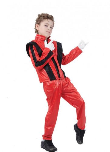 80's Superstar Red - Michael Jackson's Thriller Costume - Boys