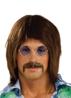 60s Hippie-Singer Brown Wig