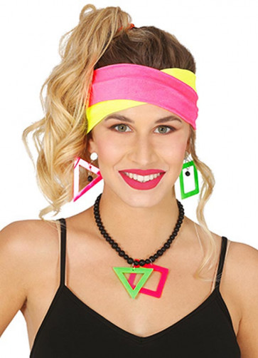 80s Neon Kit – Headbands and Jewellery