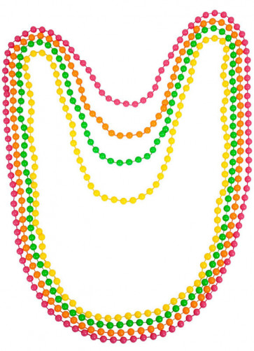 80s Neon Beads Necklace
