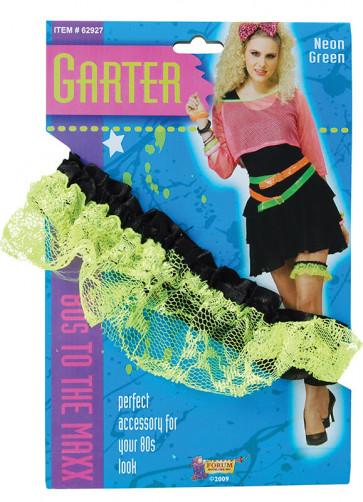 80's Neon Green Garter