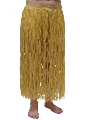 """Hawaiian Grass Skirt Long Plain - will fit up to waist size 38"""" or 97cm"""