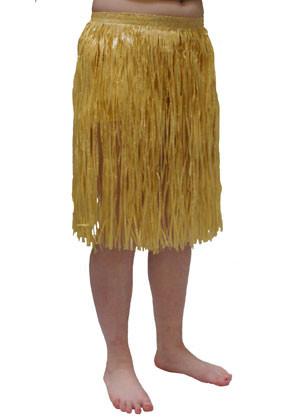 """Hawaiian Short Plain Grass Skirt - will fit up to waist size 36"""" or 92cm"""
