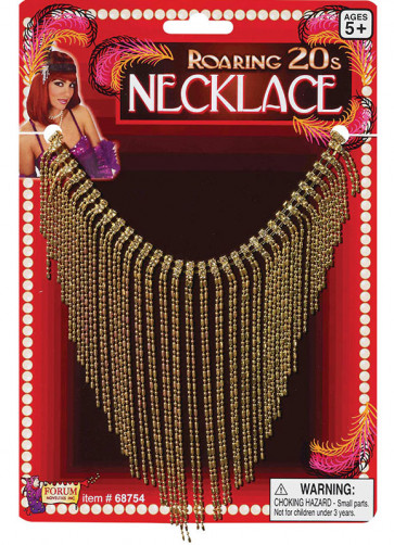 1920s Gold Flapper Necklace