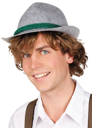 Grey Bavarian Hat - Oktoberfest
