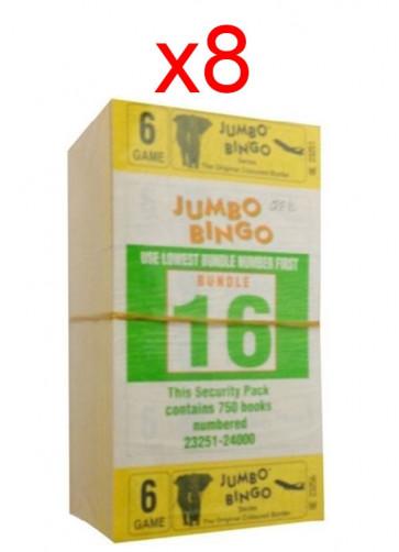 BINGO: 6 Game - 1 Carton - 8 Packets