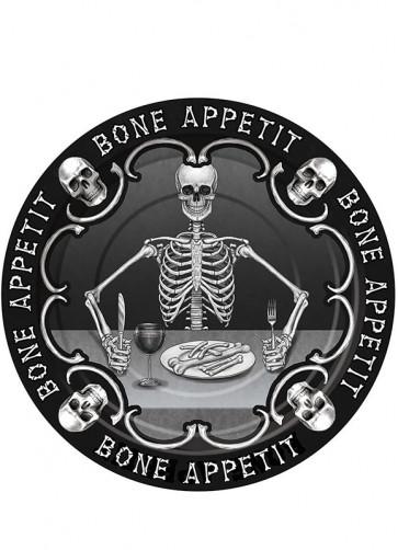 Bone Appetit Small Paper Plate (8pk)