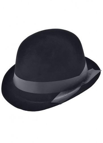 Bowler Hat Black Flocked