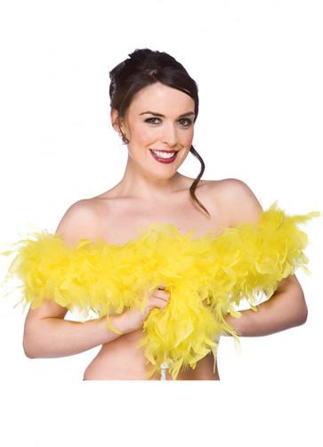 Feather Boa Bright Yellow 60g - 170cm