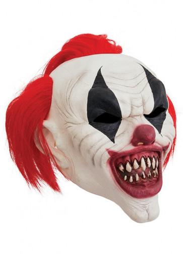 Crazy Red Hair Clown Mask