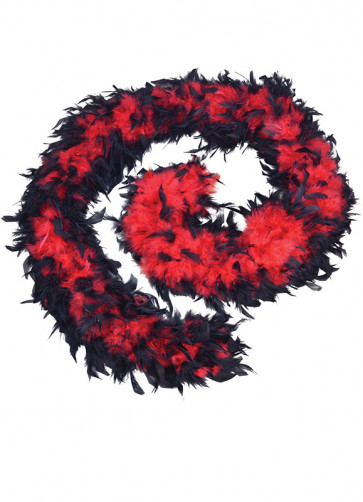 Feather Boa Black & Red (80g)