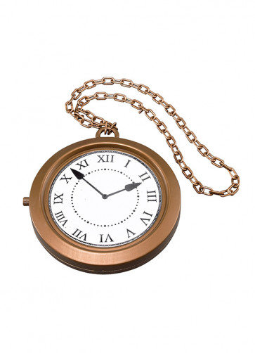 Giant Rapper's Clock Necklace 20cm - Storybook Accessory