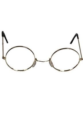 Glasses - Santa / Granny - Gold Frame Without Glass