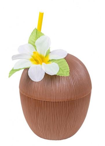Hawaiian Coconut Cup & Paper Straw