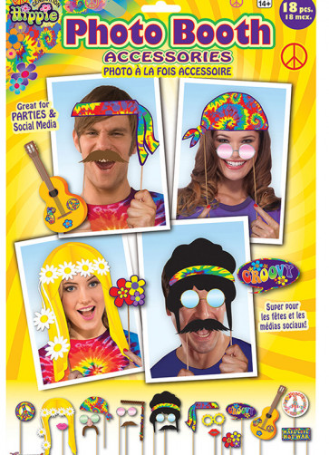 70's Hippie Photo Booth Props