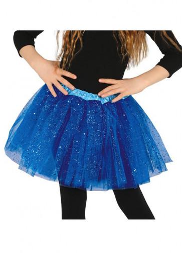 Kids Electric Blue Glitter Tutu