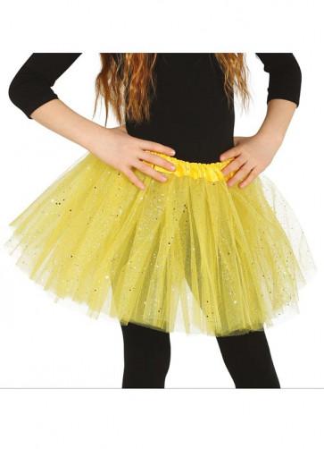 Kids Yellow Glitter Tutu