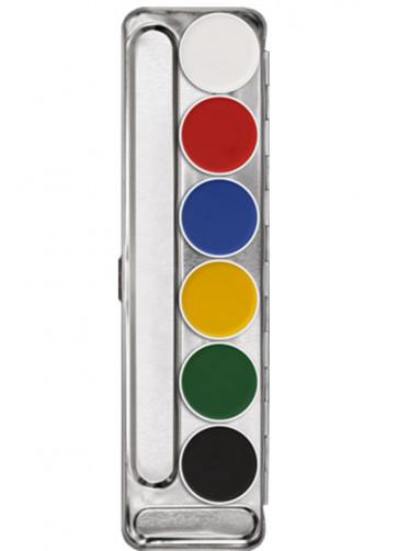 Kryolan Aquacolor Make-up Palette - 6 colours Palette A