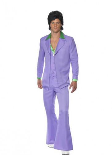 Lavender 1970s Disco-Singer Suit