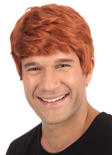 Short Ginger Mens Wig