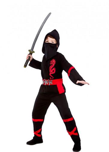Power Ninja Black (Boys) Costume