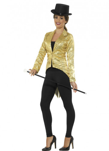Sequin Tailcoat - Gold -Ladies