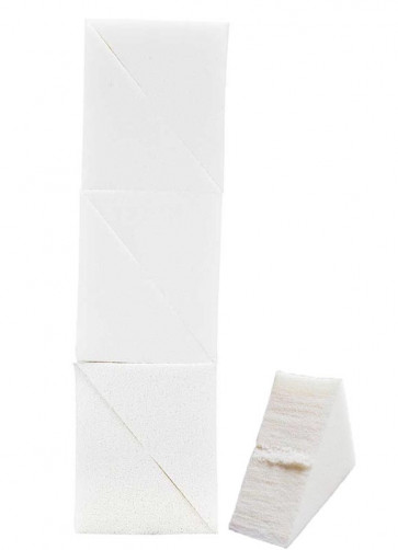Kryolan Professional Sponge - 6 Pre-cut Latex Face Paint Sponge Wedges