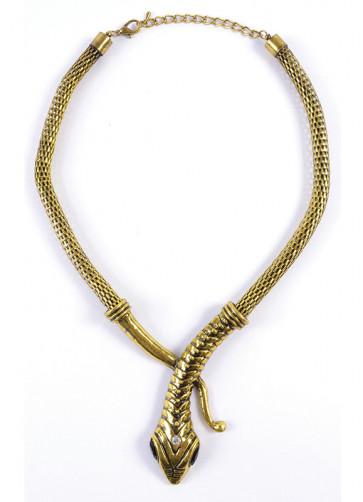 Cleopatra Asp Snake Necklace