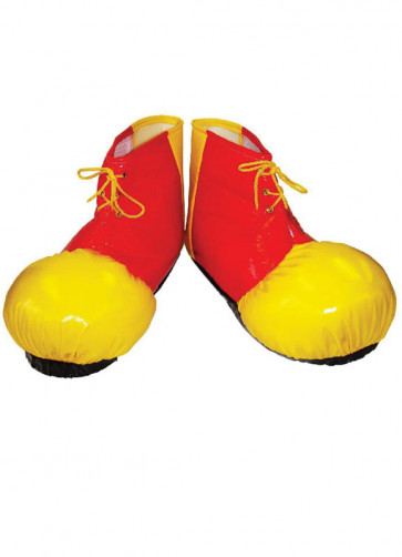 Clown Shoe Covers (Soft, Red/Yellow)