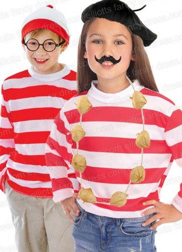 Where's Wally or French Red & White Striped Shirt
