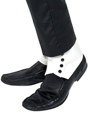 White Gangster Shoe-Spats