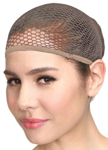 Fishnet Wig Cap - Nude