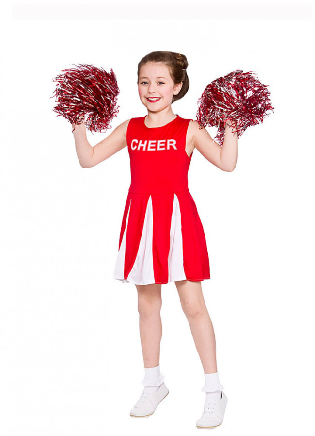 sc 1 st  Elliotts Fancy Dress Shop & Cheerleader Girls Costume (Red)