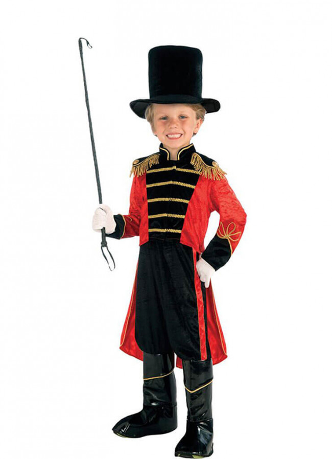 Boys Ringmaster Full Set Costume for Show Halloween Party Kids Dress Up