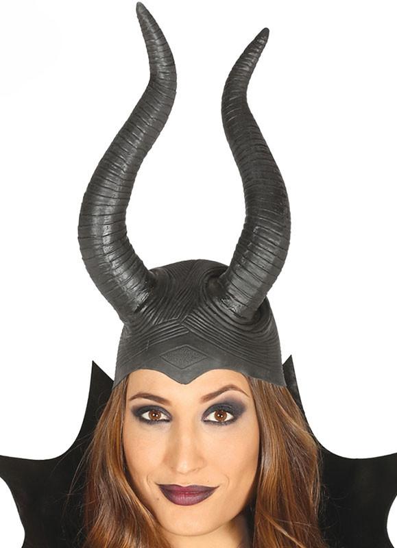Latex Horns Headpiece Lady Raven