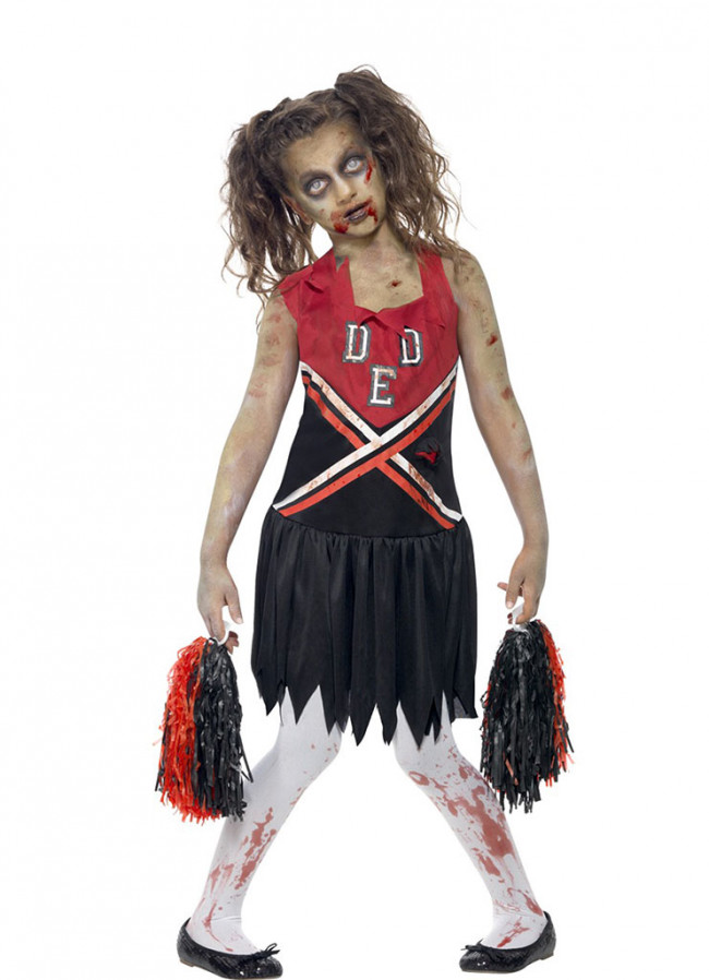 Zombie Cheerleader (Girls) Costume
