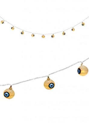 Giant Flashing Eyeballs on String - LED Lights 2.8m