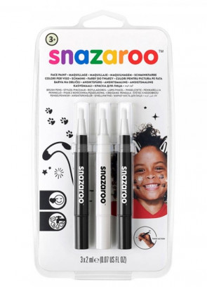 Snazaroo Brush Pen Set - Monochrome