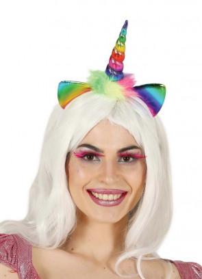 Rainbow Unicorn Headband & Ears