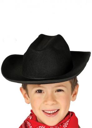 Kids Black Cowboy Hat